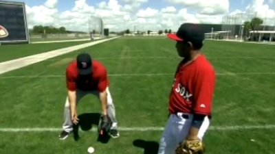 Red Sox Academy: Shane Victorino Shows How To Field An Outfield Grounder (Video)