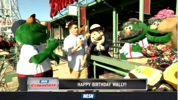 Wally The Green Monster Gets A Birthday Surprise On NESN Clubhouse