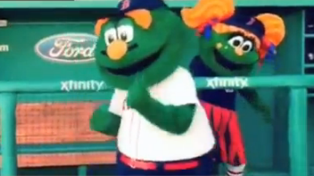 Wally, Other Mascots Take Running Man Challenge On 'NESN Clubhouse'