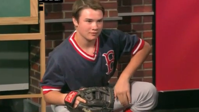 Red Sox Academy: T.J. Demonstrates Catching Signs