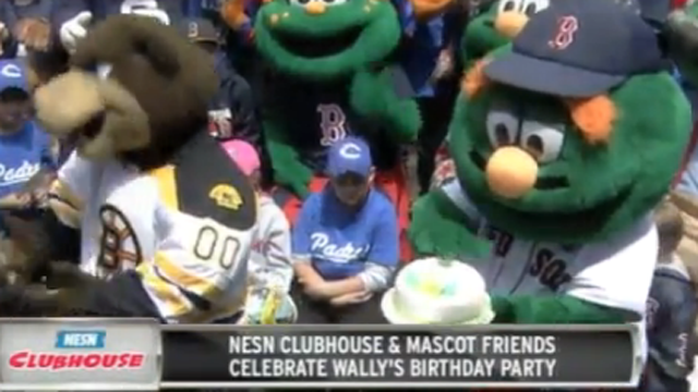 'NESN Clubhouse' Celebrates Wally's Birthday With Presents, Cake