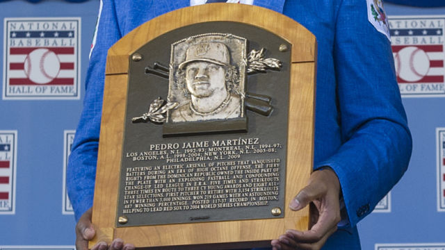 'NESN Clubhouse' Visits Pedro Martinez's Hall Of Fame Plaque
