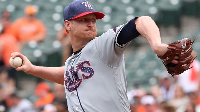 Tricks Of The Trade: Wilson Shows Off Rays Pitcher Alex Cobb's Patriotic Glove