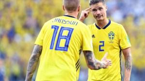 Sweden defenders Mikael Lustig and Pontus Jansson