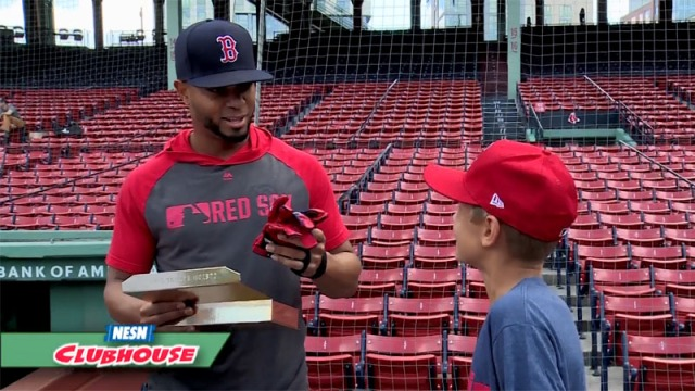 Franklin Kid Nation Winner Unveils New Batting Gloves For Red Sox